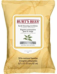 Burt's Bees Facial Cleansing Towelettes with White Tea Extract, 30 Count