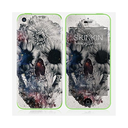 Skinkin Wandtattoo iPhone 5 C Originelles Design: Flowers and Skull von Ali Gulec Flower Design Iphone