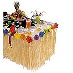 Widmann 5512S Tropische Tischdeko mit Hibiskus-Blumen, Unisex– Erwachsene, Mehrfarbig, Taglia unica