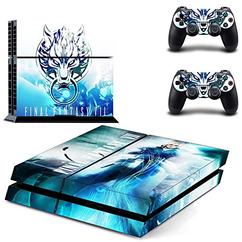 Final Fantasy VII Decal Skin Sticker pegatinas for Playstation 4 PS4 Console+Controllers