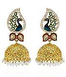 YouBella Jewellery Dancing Peacock Gold ...