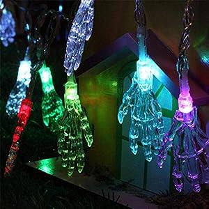 FunPa Halloween Lichterkette, LED Licht Halloween Skeleton Hände Licht...