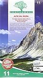 Carta n. 11. Alta valle Varaita, alta valle Maira. Carta dei sentieri e stradale 1:25.000