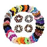 ZiYUEO 46 Stücke Haarbänder Elastische Für Frauen Mädchen Zubehör Bonbonfarben Gummi Kinder Sicher Pferdeschwanz Halter Kinder