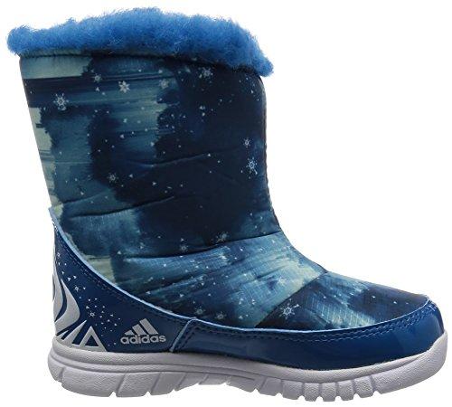 adidas Disney Frozen Mid I, Baskets Basses Mixte Bébé Bleu - Azul (Azuuni / Ftwbla / Azuhie)
