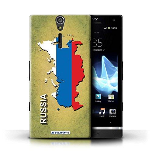 Kobalt® Imprimé Etui / Coque pour Sony Xperia S/LT26i / grande-Bretagne conception / Série Drapeau Pays Russie/Russe