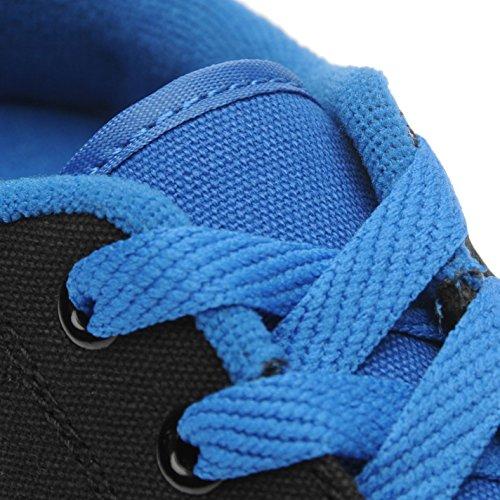 Sidewalk Roller Enfant Garçons Toile Chaussures Baskets À Roulettes Sneakers Bleu/Noir