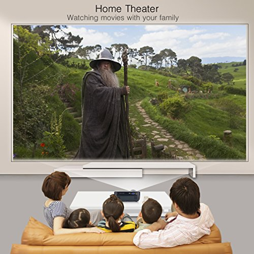 Projector  Video Projector HD 3000 lumens Portable LED Projectors 1080p 854 540 Multimedia Home Cinema Theater for Games and Parties Support PC Laptop Smartphone Xbox TV Box  Black