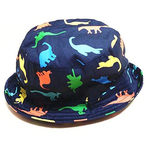Sonne Kappen Strand Hut Fischer Hut Wannen Hut Kind Jungen Dinosaurier Hut (Größe 52cm) (Kinder-eimer Hüte)