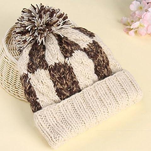 Guo Cappelli di lana cappello caldo maglione