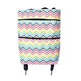 Bolsas plegables reutilizables para carrito de la compra, 2 en 1, 2 ruedas, bolsa de mano para carro de la compra Colourful