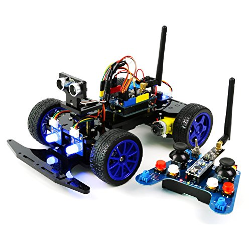 Adeept Smart Car Kit for Arduino, Remote Control Car Based on NRF24L01 2.4G Wireless, Robot Starter Kit, Arduino Robotics Model, Arduino Learning Kit with PDF Guidebook/Tutorial (Wireless Control Kit)