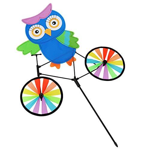 ad Eulen Ayf Fahrrad Kinder Spielzeug Kreativ Handwerk Camping Dekoration Windmuehle Zelten ()