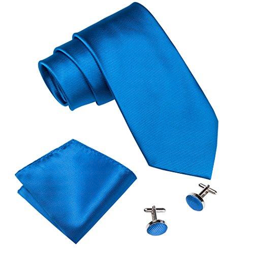 Barry. Wang Classic color sólido Tie Set para hombres Boda Negocio