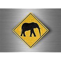 Akacha Self-Adhesive Sticker for Laptop Macbook Road Sign Safari Attention Elephant