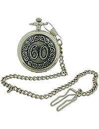 Boxx Happy 60th Birthday White Dial Silvertone Gents Pocket Watch BOXX373