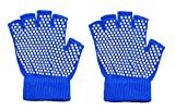 Inaaya Fingerless Hand Gloves for Yoga for Men and Women, Blue, 15 Gram