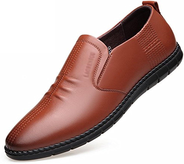 LYZGF Herren Gentleman Casual Business Mode Faul Fahren Lederschuhe