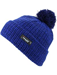 Thinsulate Childrens 2-Tone Bobble Beanie Hat with Turn-up