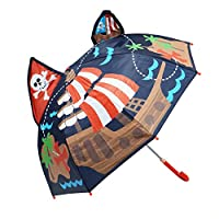 Kiddi Choice 3D Pop-Up Navy Pirate Cute Umbrella