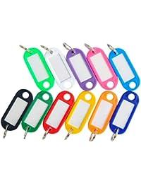 Demarkt 10 Pcs Luggage Tag Couleur Plastique Bagages ID Tags étiquettes Business Support pour Bagages, Sac, Valise -Couleur Aléatoire