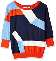 United Colors of Benetton Womens Cotton Pullover (17A1092D9042I902S_Multi-coloured)
