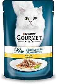 PURINA GOURMET pärla ärtade ränder kattfoder vått, med kyckling, 24-pack (24 x 85 g)