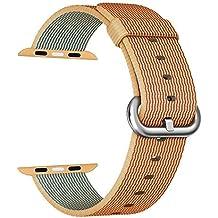 Apple Watch Correa 42mm, ZRO Premium Nylon Tejida Reemplazo de reloj Inteligente Banda de reloj con ajustable Hebilla para la nueva Apple iWatch Series 2 / Series 1
