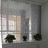 LJ&XJ Perlen String fadengardine Tür gehobene, Veranda Schlafzimmer Shop Partition Soft-Belüftung Dekoration Hintergrund Vorhang-B 200x280cm(79x110inch)