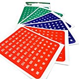 Self Adhesive Coloured Numbered Labels 1-160 - In Red, Blue and Green [Pack of 480 labels] - Made in the UK by IVY Stationery - (231020)