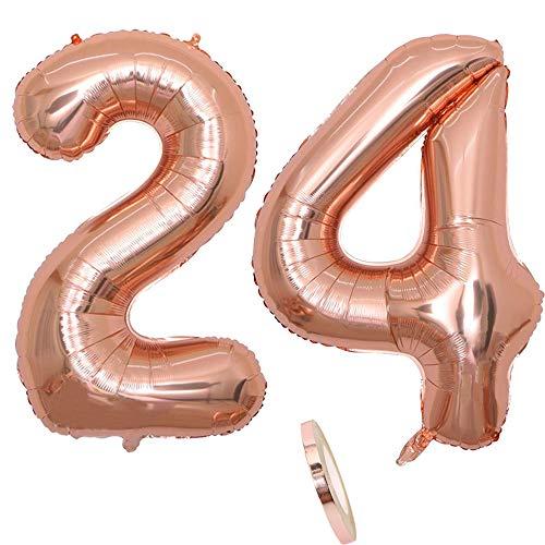 4, Nummer 24 Luftballon Rosegold Mädchen ,40