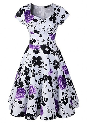 LUOUSE Robe Swing Vintage Infinity 'Ruby' Violet