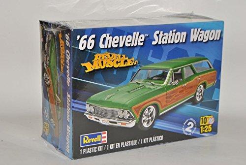 Chevrolet Chevy Chevelle Kombi Station Wagon 1966 Grün 85-4054 Bausatz Kit 1/25 1/24 Revell Monogram Modell Auto (Modell Chevy-kits)