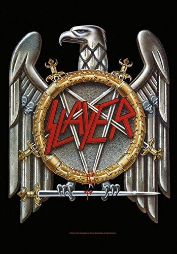 Heart Rock Licensed Bandiera Slayer - Eagle, Tessuto, Multicolore, 110X75X0,1 cm