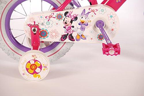 Bicicleta-chica-Disney-Minnie-3-4-45-aos-12-pulgadas-con-ruedas-rosa-prpura