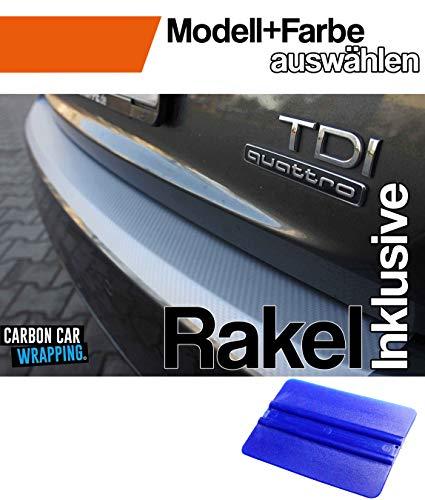 Golf 5 Variant Ladekantenschutz Lackschutzfolie mit Profi-Rakel in 3D Carbon Silber