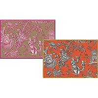 Caspari-Carta da regalo, motivo: Silk Road Toile/bronzo
