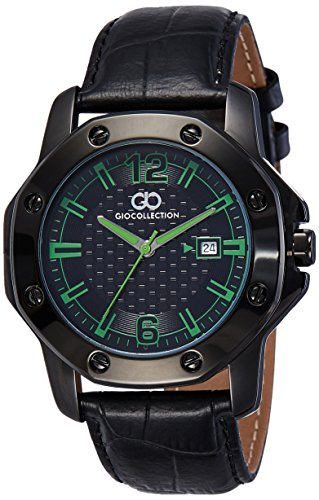 Gio Collection Analog Black Dial Men's Watch - G1004-05