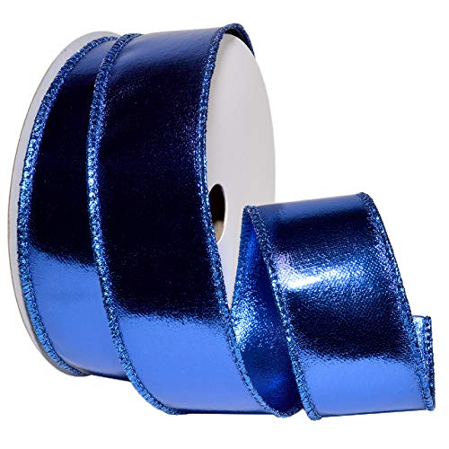 Morex Ribbon Wired Lamé, Royal Blau, 2-1/5,1cm X 10YD -