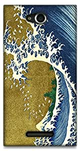 The Racoon Grip printed designer hard back mobile phone case cover for Sony Xperia C. (Colored Wa)