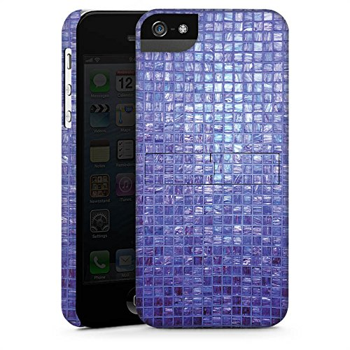 Apple iPhone 4 Housse Étui Silicone Coque Protection Mosaïque Pierres Motif CasStandup blanc