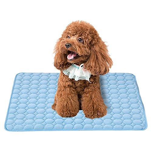 Branger Kühlmatte Hund & Katzen Eis Silber Hunde Kühlmatte Zerstreut Wärme von Ihrem Haustier Halten Sie in Der Warmen Sommerwetter Kühl (Mittel) -