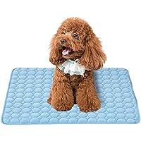 Branger Manta Perro Manta Refrescante Perro Seda de Hielo Manta Mascota Disipa el Calor de Tu Mascota Mantenlos Frescos en el Cálido Clima de Verano (Medium)