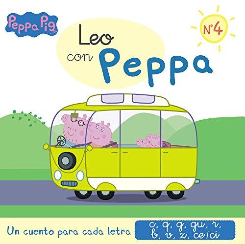 Un cuento para cada letra: c, q, g, gu, r (sonido suave), b, v, z, ce-ci (Leo con Peppa Pig 4) por Varios autores