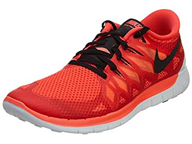 Nike Free 5.0 Men's Running Shoes Sneakers BRIGHT CRIMSON/BLACK-HOT LAVA 10 D(M) US