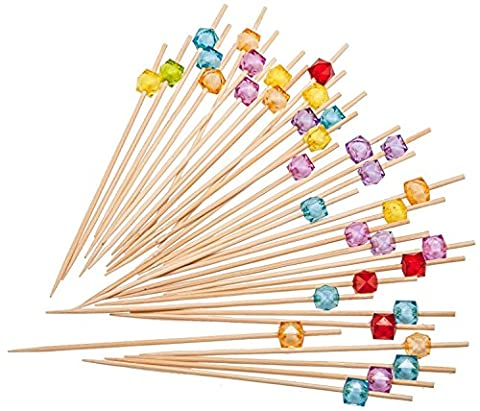 PuTwo Cocktailspieße Toothpicks Party Supplies 100 Count 12.5cm - Mehrere