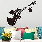 Kreative Kunst Gitarre Wandaufkleber Steuern Dekor DIY Musikinstrument vinyl wandaufkleber steuern dekor wohnzimmer schlafzimmer a1 30x34 cm
