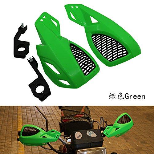 Un Xin 7//20,3/cm 22/mm CNC Universel Frein dembrayage leviers Guard Gants de Guidon pour Kawasaki Z750/Z800/Z1000/Ninja250/Zx6r Zx10r Zx9r Er6/F Motocross Vert