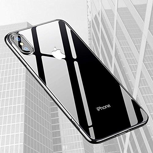 iphone X Hülle,Yica Dünn Crystal Clear Transparent Handyhülle Cover Soft Premium-TPU Durchsichtige Schutzhülle Backcover Slimcase für iphone X