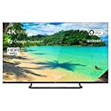 TCL 65EP681 Televisore 165 cm (65 pollici) Smart TV (4K UHD, Android TV, HDR 10+, Wide Color Gamut, Micro Dimming Pro, Google Assistant, Alexa compatibile, Dolby Atmos) Brushed Titanium
